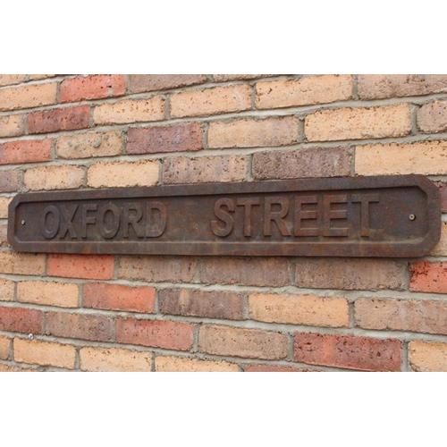 65 - Cast iron Oxford Street wall sign {150 cm H x 111 cm W }....
