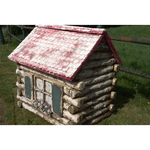 8 - Fibre  glass dog house {100 cm H x 80 cm W x 95 cm D }....
