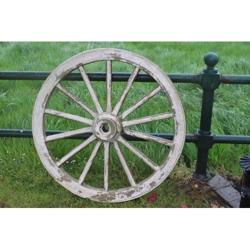 87 - Large resin wagon wheel {100 cm Dia}....
