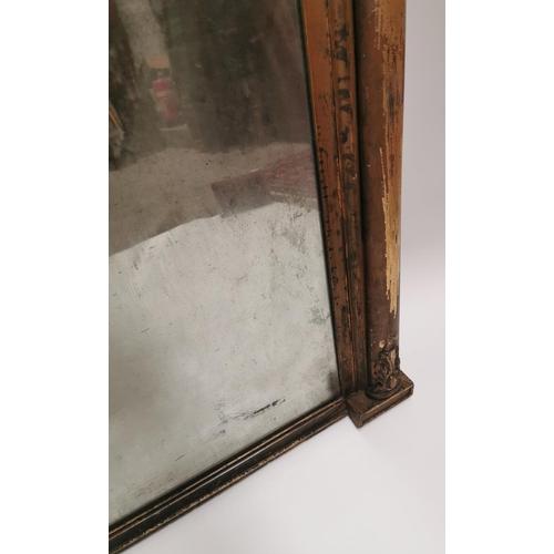 11 - William IV gilt overmantle {89 cm H x 149 cm W}....