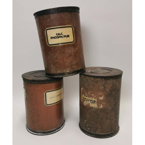 17 - Three early 20th C. chemist containers....