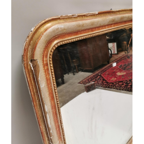 2 - 19th. C. giltwood overmantle with the distressed look {137 cm H x 110 cm W}....