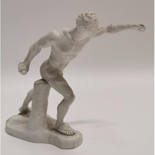 22 - 19th C. figure of Roman Athlete {21 cm h}....