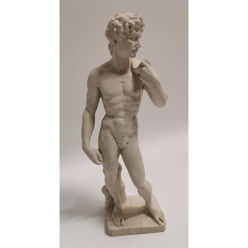 24 - Resin statue of David {61 cm H x 18 cm W x 13 cm D}....