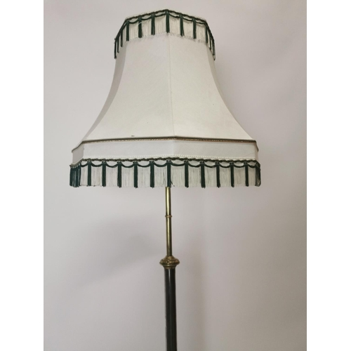 40 - Exceptional quality metal and brass standard lamp {193 cm H}....