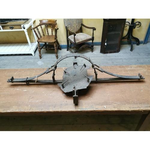 32 - 18th. C.  Man trap. {134 cm L x 54 cm W}....