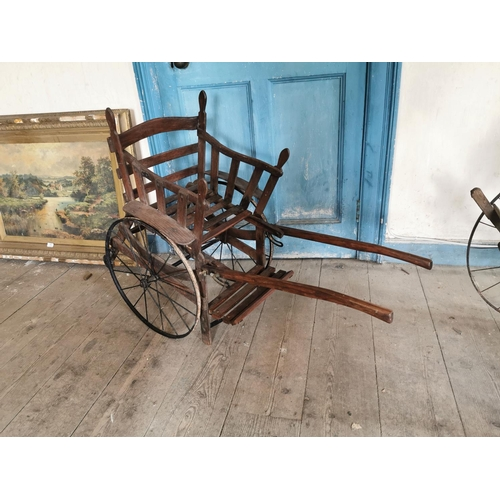 42 - 19th. C. Child's dog cart. { 84cm H X 50cm L X 118cm D }....