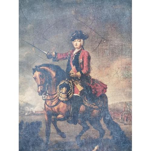 43 - Oleograph of Military Gentleman. {60 cm H x 50 cm W}...