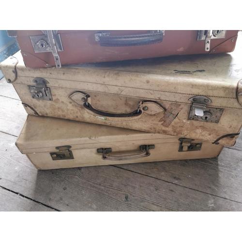 47 - Collection of three 19th. C. suitcases....