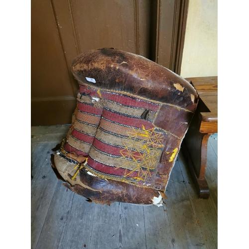 9 - 19th. C. Camel's saddle. {65 cm W x 65 cm L}....