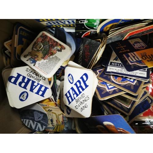 1 - Box of beer mats  - Harp, Guinness, Black Label and Diet Coke....