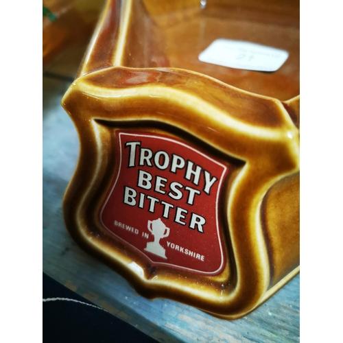 21 - Trophy Best Bitter ceramic advertising ashtray....