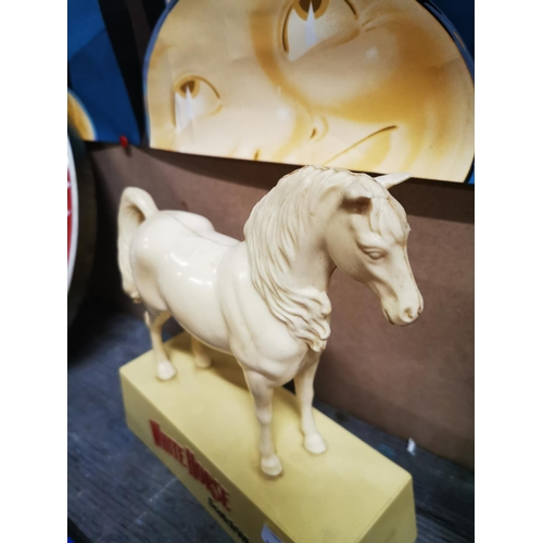 25 - White Horse Scotch Whisky advertising Horse. { 25cm H X 22cm W }....