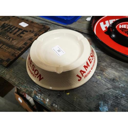 30 - 1970's Jameson Irish Whiskey ceramic ashtray....
