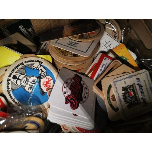 4 - Box of European beer mats....