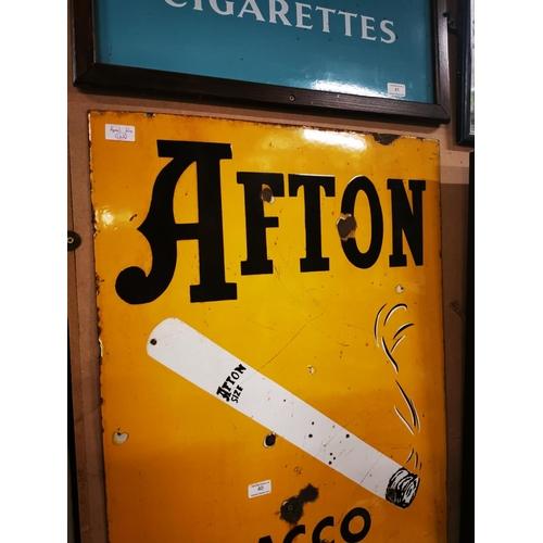 40 - Afton Tobacco pictorial enamel advertising sign. { 91cm H X 60cm W }....