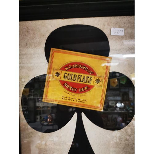 42 - Gold Flake Are Trumps framed advertising sign. { 66cm H X 50cm W }....