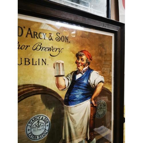 44 - John D'Arcy & Sons Anchor Brewery Dublin framed advertising print. { 85cm H X 70cm W }....