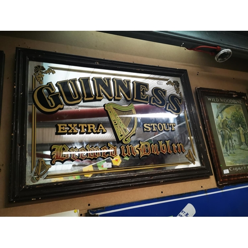 47 - Guinness Extra Stout Made in Dublin advertising mirror. { 67cm H X 96cm W }....
