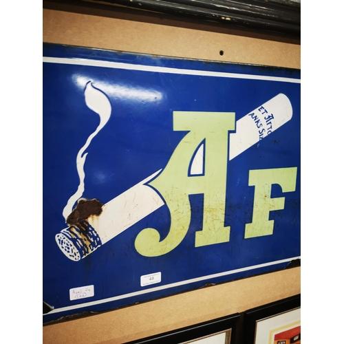 48 - Afton Cigarettes enamel advertising sign. { 43cmH X 120cm W }....