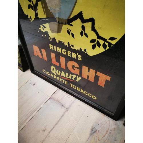 53 - Unusual Ringer's Cigarette Tobacco advertising print {74 cm H x 53 cm W}....