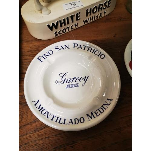 60 - Two Ceramic ashtrays  - Martini & Fino San Patricio Garvey Jerez...