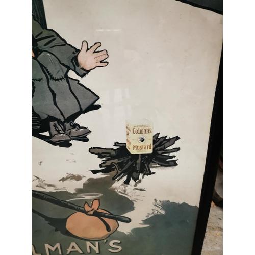 7 - Colman's Mustard To Klondike advertising print. { 74cm H X  50cm W }....