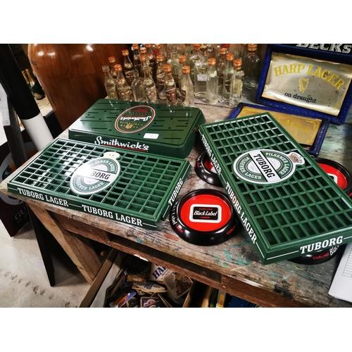 8 - Three drip trays - Smithwicks and 2 Tuborg's. { Each  41cm L X 20cm W approx.  }...