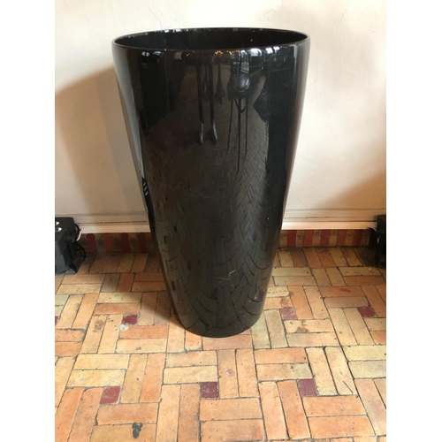14 - Cylindrical shaped planter W 40cm H 75cm...
