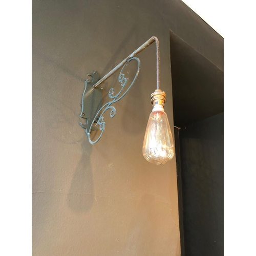18 - Pair of wrought iron wall lights H 30cm D 30cm...
