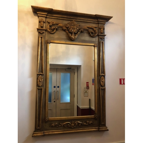 30 - Empire style carved wood pier mirror W 94cm H 150cm