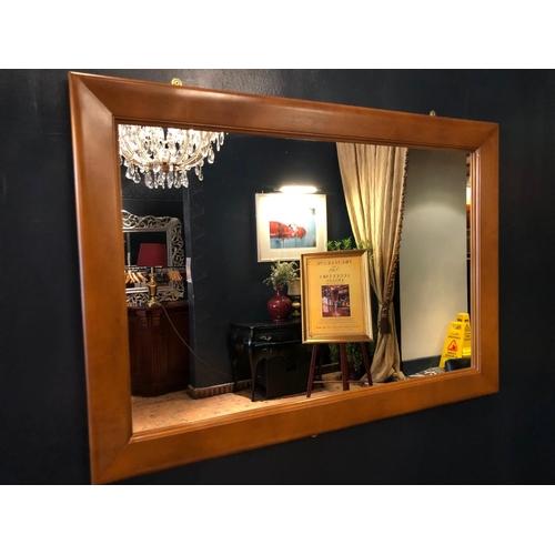 41 - Painted rectangular mirror W 100cm H 70cm...