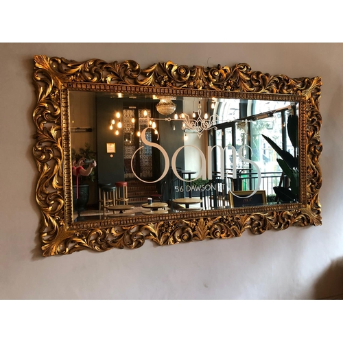 9 - Spectacular gold framed Rococo style mirror W 260cm H 145cm...