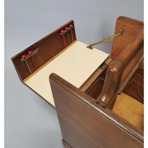 14 - Art Deco picnic cocktail cabinet {70 cm H x 27 cm W x 34 cm D}.