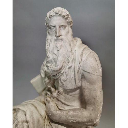 30 - 19th C. plaster statue of Grecian God {61 cm H x 25 cm W x 29 cm D}....