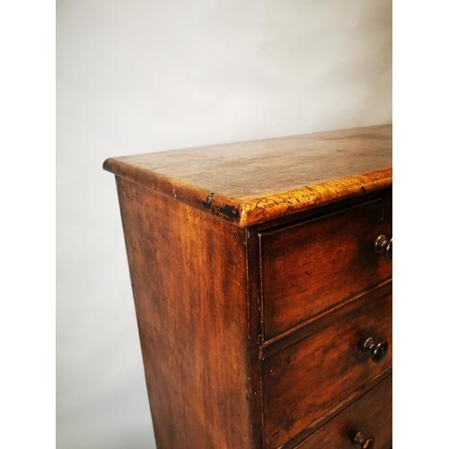 13 - Georgian mahogany two over three chest of drawers. { 107 cm H x 112 cm L x 52 cm D}...