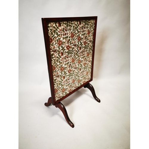 3 - Edwardian mahogany flip top wine table with inset tapestry panel. {87 cm H x 42 cm W x 56 cm D}...