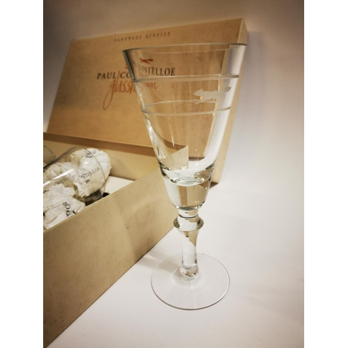 37 - Set of four Paul Costello glasses by Newbridge....