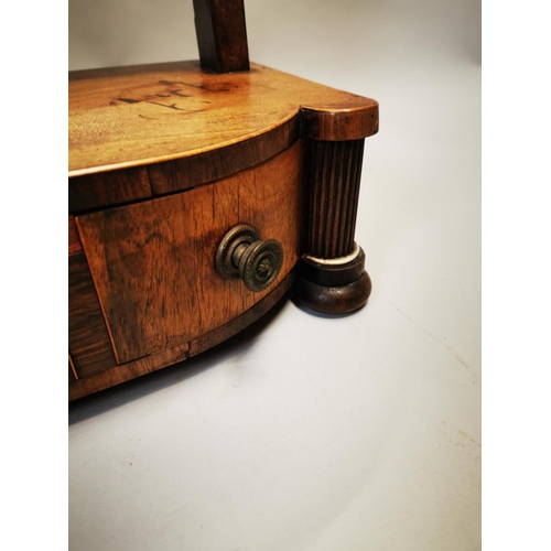 42 - Georgian inlaid mahogany dressing table mirror {61 cm H x 58 cm W x 22 cm D}....