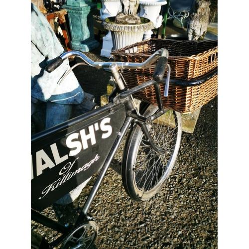 51 - Early 20th C. messengers shop bike Walshe's of Kiltimangh {100 cm H x 157 cm W x 53 cm D}....