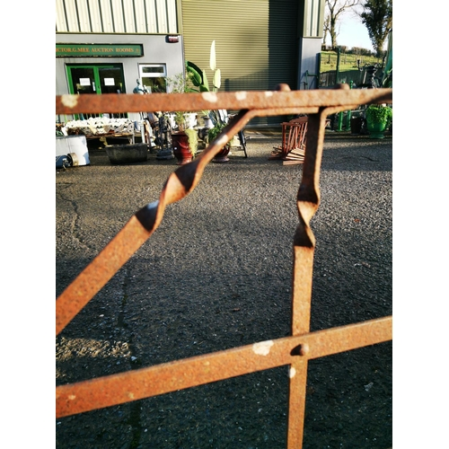 58 - 19th C. wrought iron field gate {130 cm H x 228 cm W}....