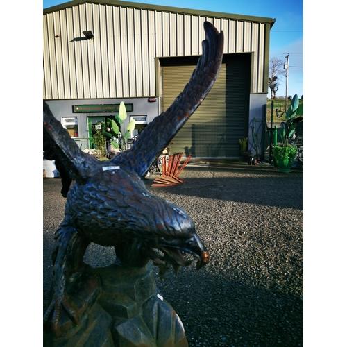 59 - Good quality cast iron model of an Eagle {110 cm H x 85 cm W x 83 cm D}....