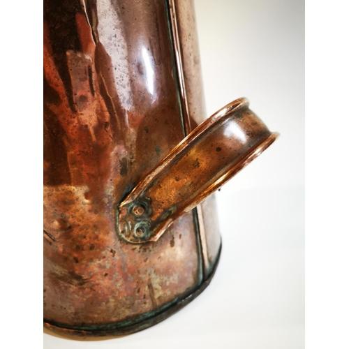 9 - !9th C. copper coal scuttle. {60 cm H x 26 cm Diam]....