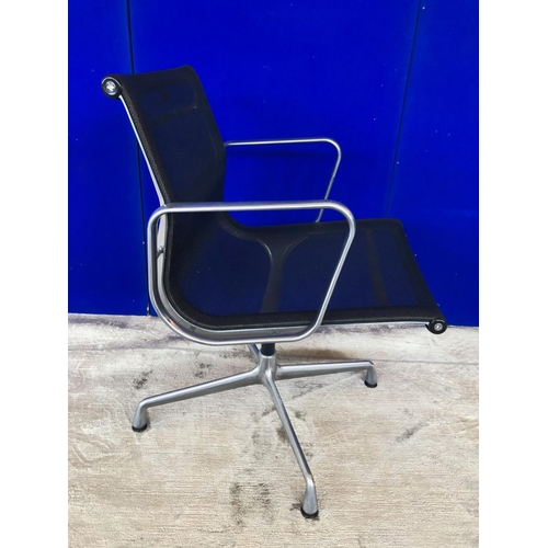 11 - Charles Eames aluminium swivel chair by Vitra (as new) W 55 H 82 D 70...