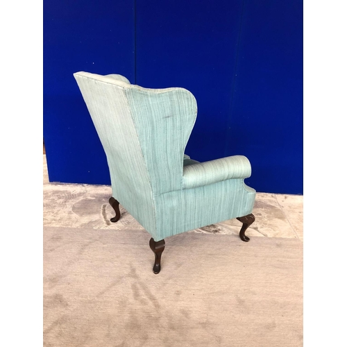 17 - Pair of Edwardian wing back chairs in the Queen Anne style W 86 H 100 D 80...