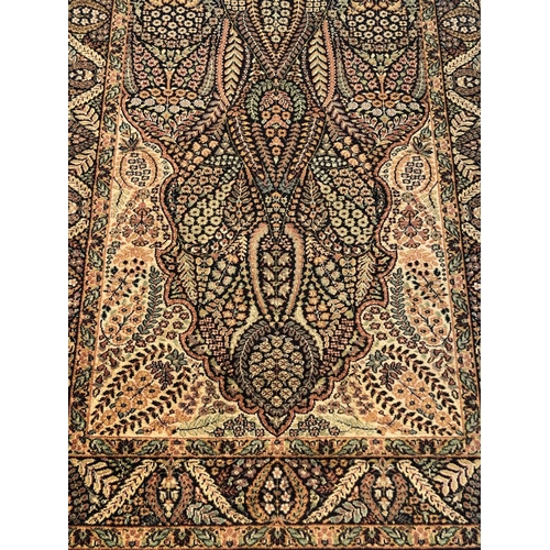 21 - Arts and Crafts style wool centre rug 180 x 120...