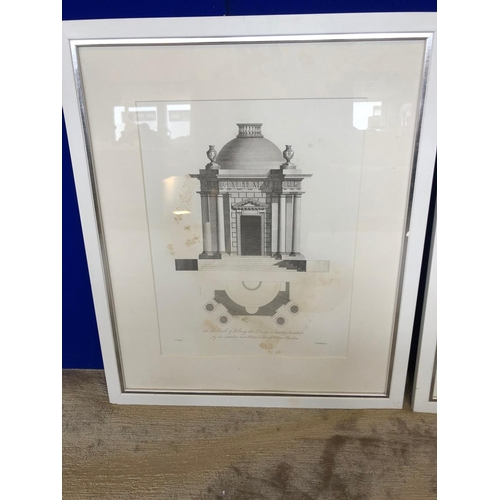 24 - Pair of architectural prints W 55 H 66...