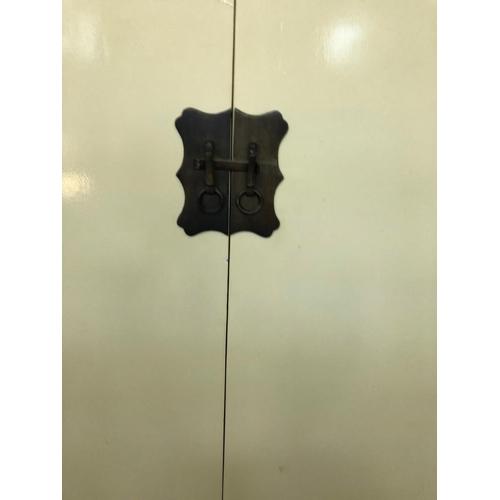 25 - Asian design painted 2 door cabinet W 54 H 60 D 40...