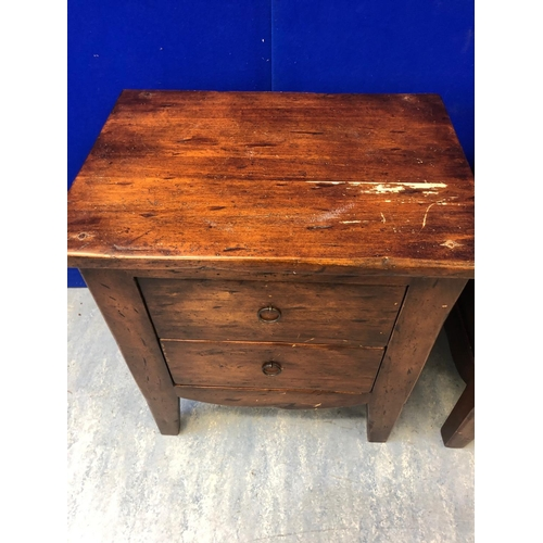 26 - Pair of stained pine 2 drawer lockers W 54 H 60 D 40...