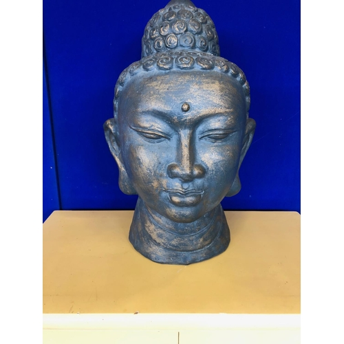 27 - Patinated terracotta Buddha head W 40 H 60 D 38...